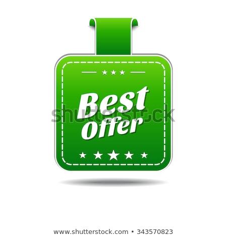 Legjobb ajánlat zöld vektor ikon terv Stock fotó © rizwanali3d
