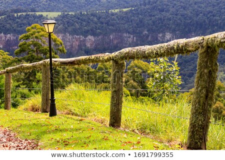 the fenced path along the cliff edge Stock photo © morrbyte