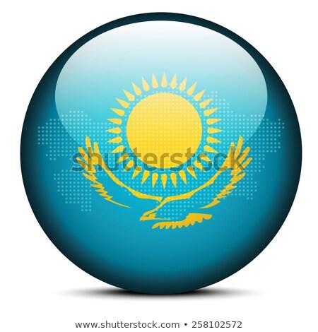 карта точка шаблон флаг кнопки Казахстан Сток-фото © Istanbul2009