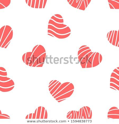белый бумаги сердце красный иллюстрация любви Сток-фото © Anna_leni