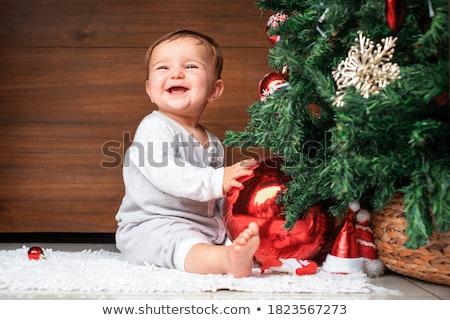 Noel bebek küçük elbise mutlu Stok fotoğraf © eleaner