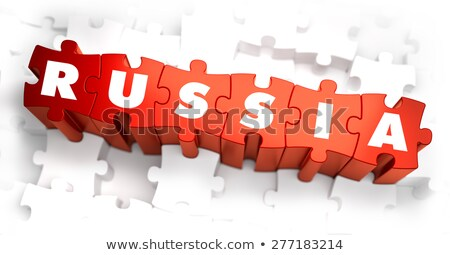 crimea   white word on red puzzles stock photo © tashatuvango