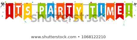 confetti - party time Stock photo © andruszkiewicz