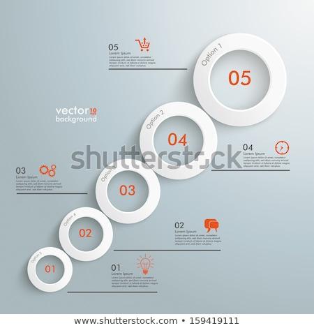 infografika · fehér · körök · szürke · eps · 10 - stock fotó © jiunnn