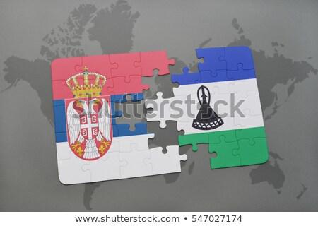 Europejski Unii Lesotho flagi puzzle odizolowany Zdjęcia stock © Istanbul2009