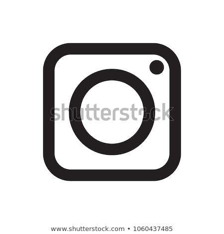 Elektronikus felszerlés tér vektor fekete gomb Stock fotó © rizwanali3d