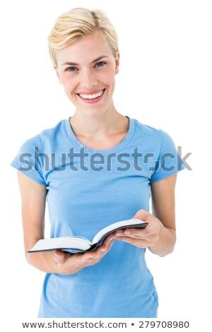 Библии глядя камеры белый Сток-фото © wavebreak_media