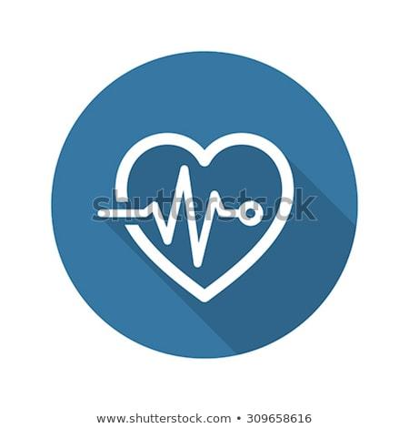 Kardiogram orvosi szolgáltatások ikon terv hosszú Stock fotó © WaD