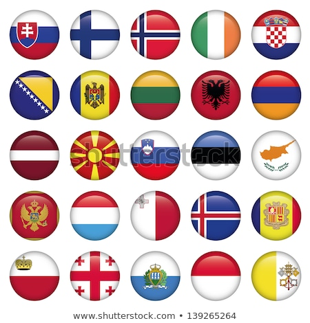 ícone bandeira Estônia assinar branco Foto stock © MikhailMishchenko