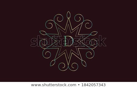 Vintage label elements with ornate elegant abstract floral desig Stock photo © Morphart