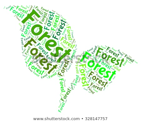 Forestation Word Means Park Woodland And Trees Stock photo © stuartmiles