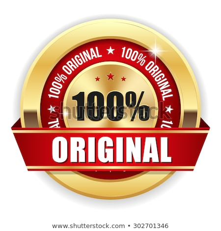 Genuine Product Red Vector Icon Button Stock photo © rizwanali3d