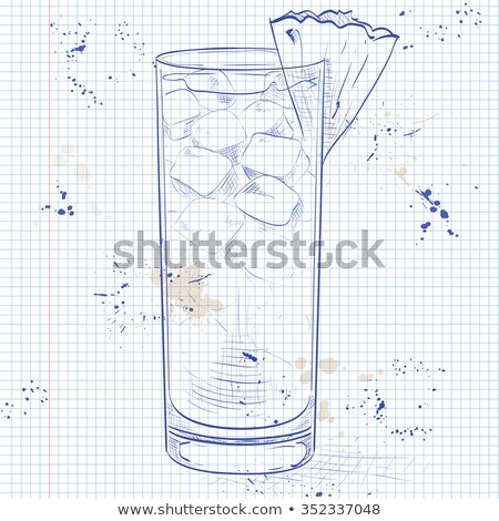 Cocktail Barracuda on a notebook page Stock photo © netkov1