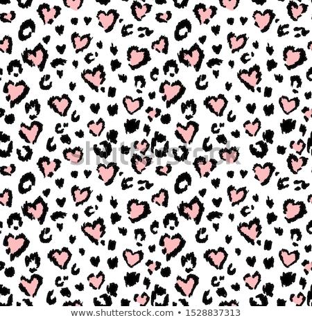 Stock fotó: Végtelen · minta · szívek · fehér · absztrakt · ragyogó · piros