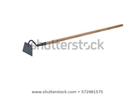 изолированный саду мотыга работу инструменты вилка Сток-фото © shutswis