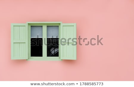 Stock photo: Pink wooden shutters