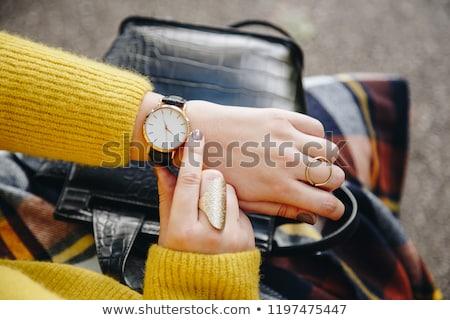 ビジネス女性 · 時間 · 孤立した · 白 · オフィス · 幸せ - ストックフォト © dash