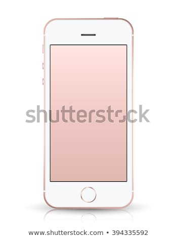 Rose gold colored smartphone Stock photo © magraphics