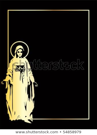 altın · vektör · bakire · heykel · eps · aile - stok fotoğraf © sdmix