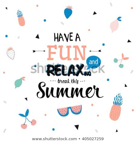 vector · zomer · poster · sjabloon · blauwe · hemel · hot - stockfoto © orson