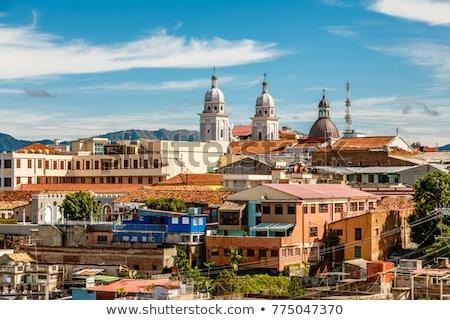 Kasaba Santiago Küba panoramik Cityscape görmek Stok fotoğraf © Klinker