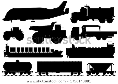 Air Ship Silhouette Stock photo © Bigalbaloo