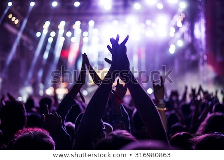 Popular rock music concert crowd out of focus Stock photo © stevanovicigor