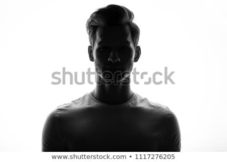 Stock fotó: Gesztikulál · férfi · hát · pop · art · retro · jelbeszéd