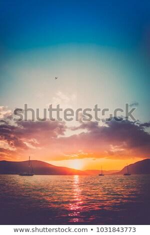 Boot ruhig Sonnenuntergang Weg Irland Stock foto © morrbyte