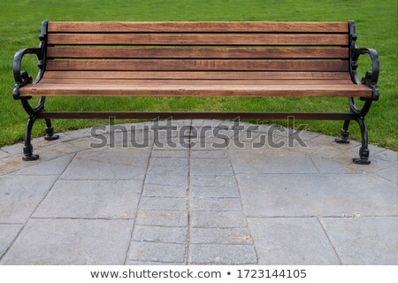 Cast Iron Park Seat Stock photo © rghenry