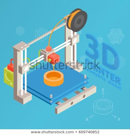 3D · impressora · modelo · profissional · protótipo · dispositivo - foto stock © rastudio