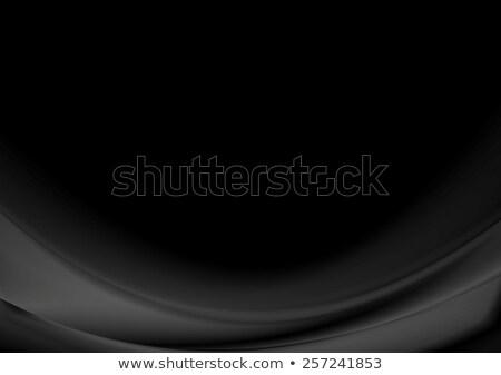 Resumen negro ondulado empresarial oscuro vector Foto stock © saicle