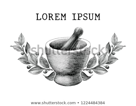 Herbs with Pestle and Mortar  Stock photo © Kidza