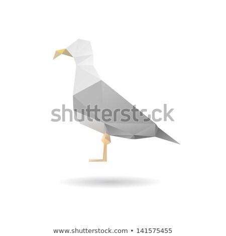 Sea gull of origami Stock photo © brulove
