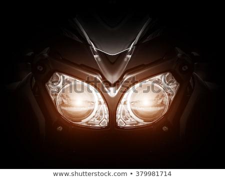オートバイ ヘッドライト 細部 クローズアップ 表示 ファッション ストックフォト © joyr