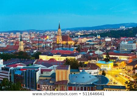 Cluj Napoka panorama, Romania Stock photo © joyr