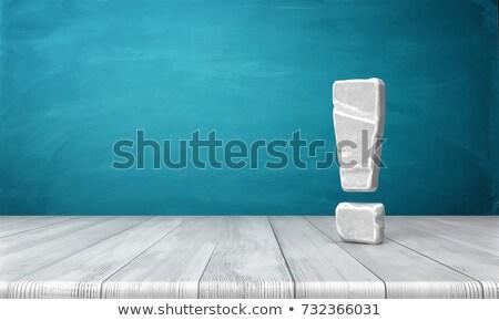 Signo de admiración rocas 3D 3d ilustración aislado Foto stock © djmilic