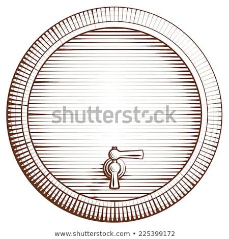 ビール タップ 孤立した クロム 白 ストックフォト © albund