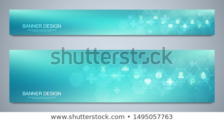 medical banner and infographics stock photo © -talex-