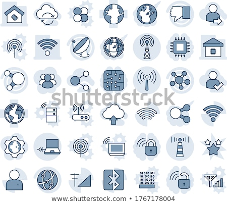 notebook symbol icon on gray shaded background stock photo © noedelhap
