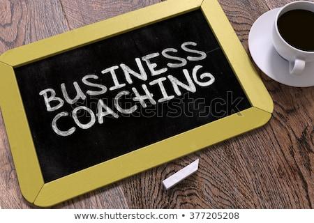 ビジネス コーチング 黒板 黄色 先頭 ストックフォト © tashatuvango