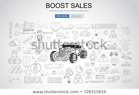 Boost Sales concept with Business Doodle design style: online ca Stock photo © DavidArts