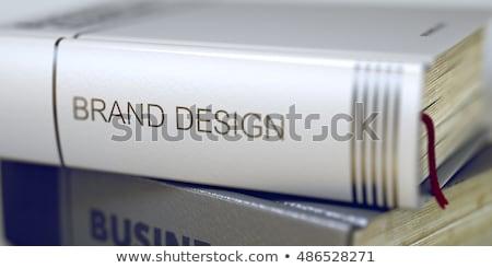 Merk gebouw business boek titel 3D Stockfoto © tashatuvango
