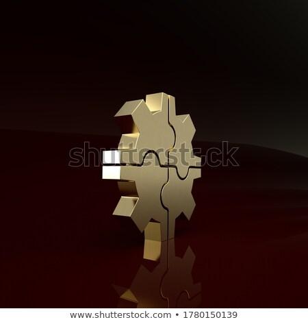 Gouden onderhoud werk 3D mechanisme Stockfoto © tashatuvango
