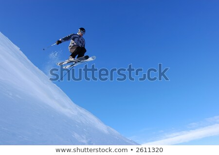 Skier jumping of a cornice Stock photo © IS2