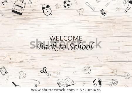 school blackboard colorful bright concept of education stock photo © janpietruszka