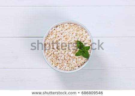 çanak beyaz ahşap grup tohum sağlıklı Stok fotoğraf © Digifoodstock