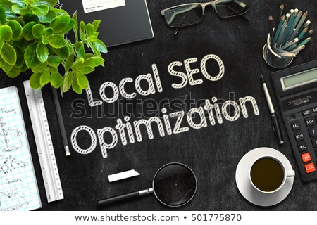 Black Chalkboard with Local SEO Optimization. 3D Rendering. Stock photo © tashatuvango
