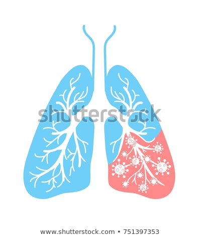 icon of lung disease hit stock photo © olena