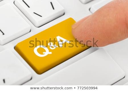 стороны пальца прессы часто задаваемые вопросы ключевые белый Сток-фото © tashatuvango